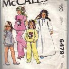 McCall's 6479 Raggedy Ann Andy Gown PJs Girls 10-12 1970
