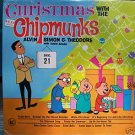 Christmas with the Chipmunks Alvin Simon Theodore LP Record
