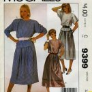 McCall.'s 9399 Top Skirt  Miss 8 1985