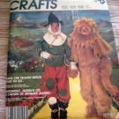 McCall's 2203 Wizard of Oz Scarecrow Lion Kids 7-8 1985 OOP
