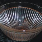 Federal Glass Clear Ribbed Mixing Bowl 1950s