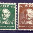 Sir Rowan Hamilton Ireland Postage Stamps 1943 Set of 4