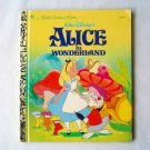Disney Alice in Wonderland Little Golden Book 1996