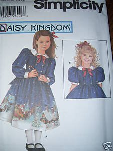 Simplicity 5929 DAISY KINGD0M DRESS 5-8 Pattern