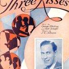 Three Kisses Larry Funk Sheet Music 1933