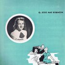 KEEP IT A SECRET SHEET MUSIC J ROBINSON JO STAFFORD 1952