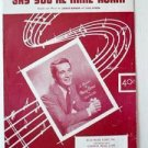 SAY YOU'RE MINE AGAIN Sheet Music Perry Como 1953
