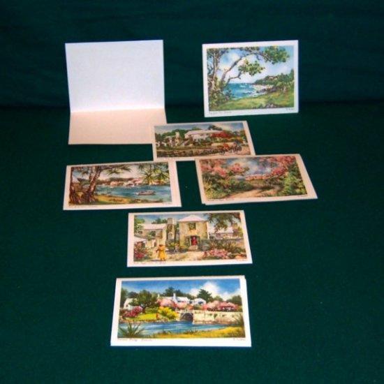 Virginia Carleton Bermuda Watercolor Prints Set of 6 1950s