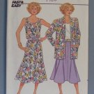 Butterick 3823 Jacket Skirt Top Misses 8-10-12 1986