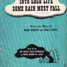Into Each Life Some Rain Must Fall Sheet Music 1944