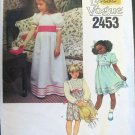 Little Vogue 2453 Dress Cummerbund Girls 5 1980s
