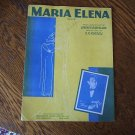 Maria Elena Sheet Music 1941 Jose Morand