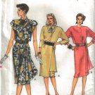Vogue 9623 Dress Front Drape Misses 14-18 1986