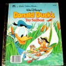Donald Duck's Toy Sailboat Ducks Luck 2 Little Golden Books