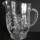 Anchor Hocking Early American Prescut Star of David Pitcher