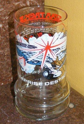 STAR TREK III ENTERPRISE DESTROYER GLASS TACO BELL 1984