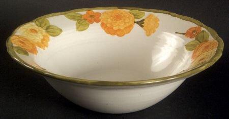 Metlox Poppytrail SCULPTURED ZINNIA Vegetable Bowl