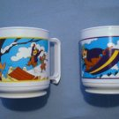 Yogi Bear Arby's 1993 Plastic Mug Set of 6