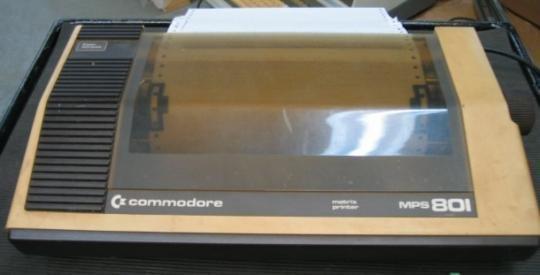 COMMODORE MPS 801 MATRIX PRINTER Vintage
