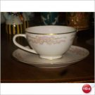 HALSEY CHINA SWEETHEART ROSE CUP Set of 10