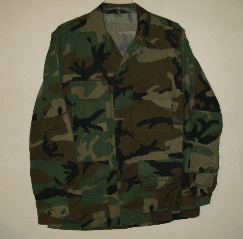 Military Woodland Camo Shirt Small Regular