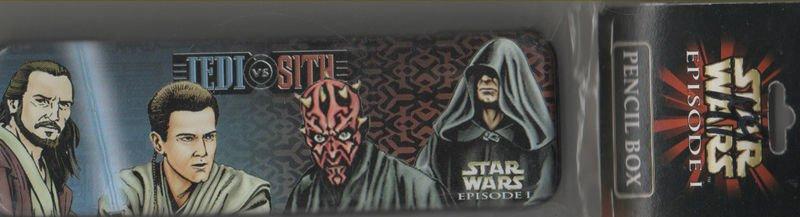 Star Wars Episode I Jedi vs Sith Pencil Box Tin Stickers