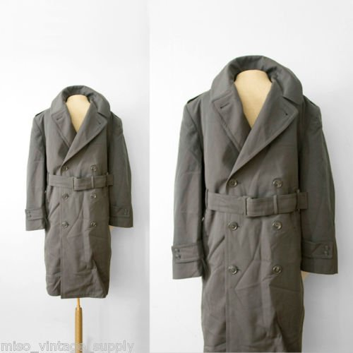 Military Army Wool Overcoat Removable Liner 38L 1944