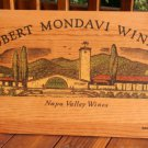 Robert Mondavi Winery Napa Valley Wood Display Sign 1970