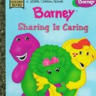 Barney Sharing Is Caring Little Golden Book 1997