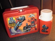 GO BOTS THERMOS PLASTIC LUNCHBOX WITH THERMOS 1984