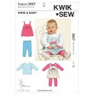 Kwik Sew 3607 Jumper Top Leggings Infant XS-S-M-L-XL