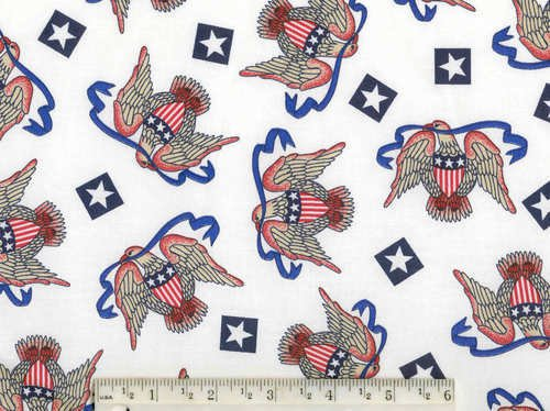 AMERICAN FLAG EAGLE STAR PATRIOTIC FABRIC OOP