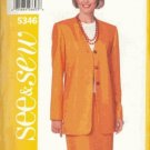 Butterick 5346 Jacket Skirt Pattern Misses 12-14-16