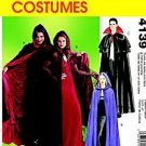 McCall's 4139 Dracula Vampire Cape Costumes Men Misses S-M-L-XL