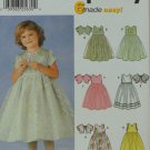 Simplicity 7109 Girls Dress Jacket 3-4-5-6-7-8