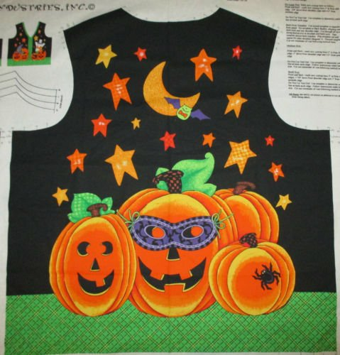 WITCHING HOUR HALLOWEEN VEST PANEL