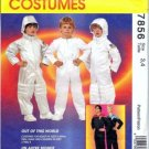 McCall's 7856 ASTRONAUT SPACE SUIT STAR TREK Kids 3-4 OOP