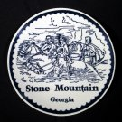 """Stone Mountain Georgia Railroad Confederate Carving 7"""" Plate"""