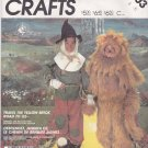 McCall's 2203 Wizard of Oz Scarecrow Lion Kids 4-6 OOP