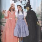 Simplicity 4136 WIZARD OF OZ DOROTHY GLINDA WITCH COSTUMES 6-12