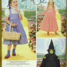 Simplicity 4139 WIZARD OF OZ DOROTHY GLINDA WITCH COSTUMES 3-8