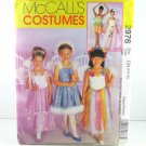 McCall's 2976 BALLERINA FAIRY PRINCESS COSTUMES 7-8-10 OOP