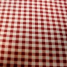 BUNGUNDY WHITE CHECK GINGHAM FABRIC 2 1/2 Yards