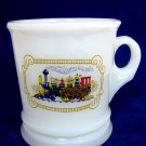 AVON STEAM ENGINE TRAIN SHAVING MUG MILK GLASS