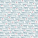 DAISY KINGDOM 1754 RAGGEDY ANN & ANDY ALLOVER WORDS FABRIC