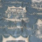 TOILE FRENCH WOMEN CHILDREN BLUE FABRIC NU TOILES IV
