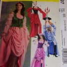 McCall's 5497 DRESS CORSET GYPSY DEVIL PIRATE Misses 14-20 OOP