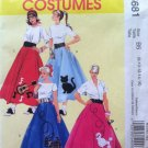 McCall's 5681 POODLE SKIRT COSTUMES Misses 8-16
