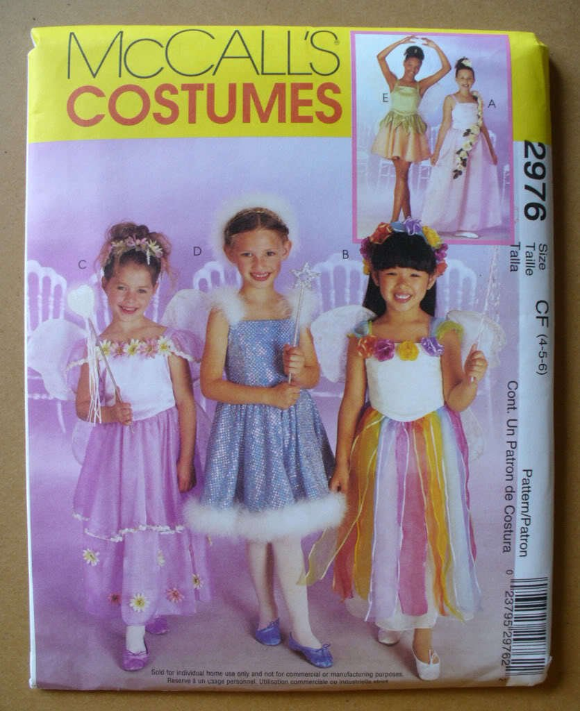 McCall's 2976 BALLERINA FAIRY PRINCESS COSTUMES 4-5-6 00P