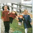 Butterick 3954 CABBAGE PATCH KIDS 2-3-4-5 DOLLS 16-20""